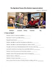 English Worksheet: The Big Bang Theory - BAZINGA!