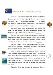 English Worksheets: A Good Reading & Comprehension Activity