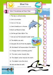 English Worksheet: Listening comprehension exercises