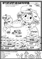 English Worksheet: DOT TO DOT ACTIVITY AND COLOR THE PICTURE