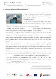 English Worksheet: Earth�s Day speech