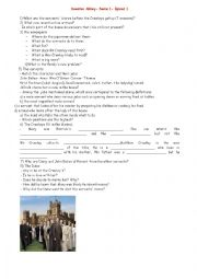 English Worksheets: Downton Abbey- Serie1- episod one