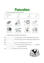 English Worksheet: Pancake recipe