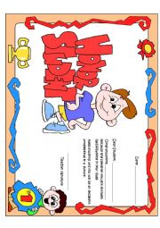 English Worksheets: Honor Certificate for boys