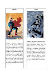 English Worksheet: Superheroes 3 ( Superman and Batman)