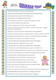 English Worksheet: GRAMMAR TEST