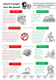 English Worksheet: Planet in danger. Save the planet!