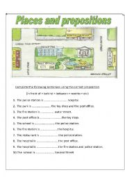 places and directions esl worksheet by aaisha86. Black Bedroom Furniture Sets. Home Design Ideas