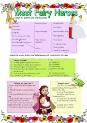 English Worksheet: Meet Fairy Heroes