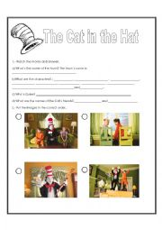 English Worksheet: The Cat in the Hat by Dr.Seuss