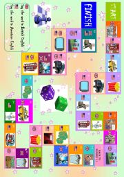 English Worksheet: British English vs American English Boardgame