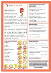 English Worksheet: Malls in the City (Shopping)