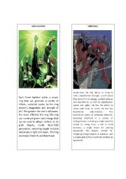 English Worksheet: Superheroes 5 ( Green Lantern and Spiderman)