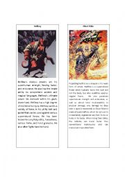 English Worksheets: Superheroes 6 ( Hellboy and Ghost Rider)