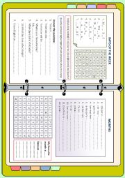 English Worksheet: Days and months