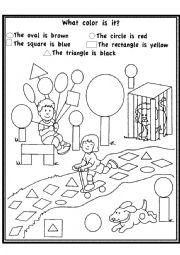 English Worksheet: Funny Shapes