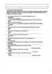 English Worksheets: General Revision For Advanced
