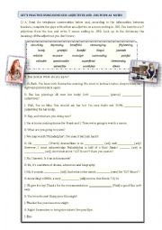 English Worksheets: -ing nouns + adjectives