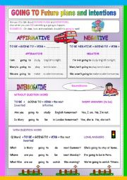 English Worksheet: GOING TO for starters