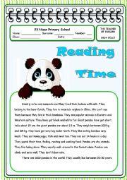 English Worksheets: giant pandas