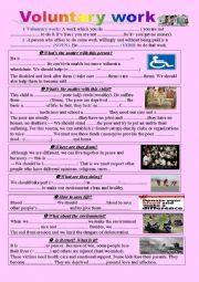 Volunteers Student Worksheet