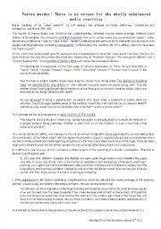 English Worksheets: Unbalanced Media Reporting