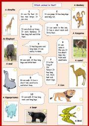 english worksheets animals adjectives. Black Bedroom Furniture Sets. Home Design Ideas