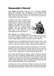 English Worksheets: Assassin�s Creed