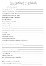 English Worksheets: Reported speech - Present Simple
