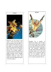 English Worksheet: Superheroes 9 (Aquaman and Hawkman)