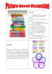 English Worksheet: Picture-based discussion language learning