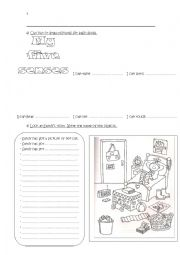 English Worksheets: Different exercises 2
