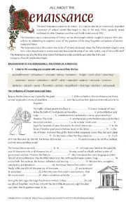 English Worksheets: Background to the Renaissance