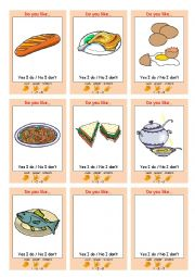 English Worksheet: FOOD Interactive Communication Game (Rock Paper Scissors)