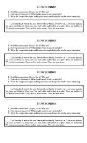 English Worksheets: How Boring!