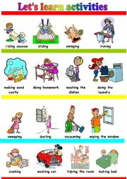 English Worksheets: let�s learn activities:)