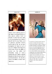 English Worksheet: Superheroes 11 ( Human Torch and Invisible Girl)