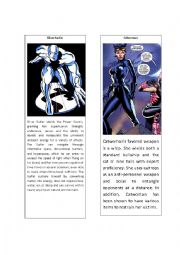 English Worksheet: Superheroes 12 ( Silver Surfer and Catwoman)
