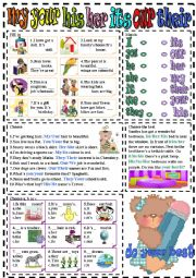 English Worksheet: my-your-his-her-its-our-their