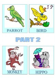 English Worksheets: Flashcards-Animals