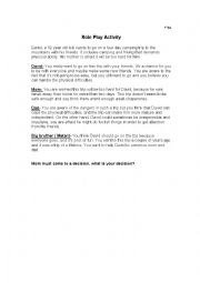 English worksheet: play role activity