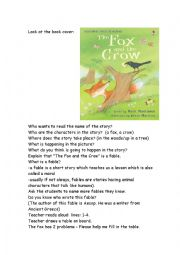 crow and fox story in english pdf