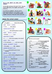 English Worksheet: IS, ARE, ISN�T, AREN�T, DO, DOES, DOESN�T