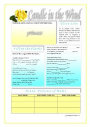 English Worksheets: Elton John - Candle in the Wind