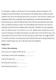 English worksheet: monster house