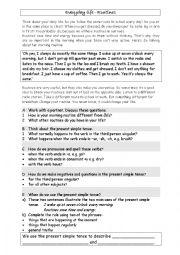English Worksheets: Everyday life