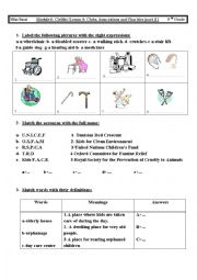 English Worksheets: LESSON4/ CLUBS ASSOCIATION AND CHARITIES
