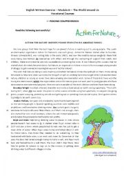 English Worksheets: Eco-heroes