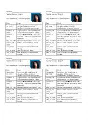 English Worksheets: amy winehouse biography