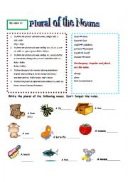 English Worksheets: Plural of the nouns